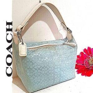 COACH Signature C Embossed Mini Satchel Bag EUC